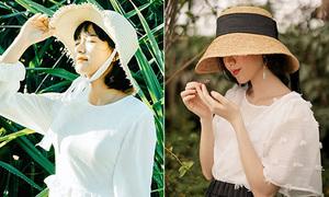 Đi chơi hè này đừng thiếu 3 kiểu mũ cói 'bao đẹp, bao chất'