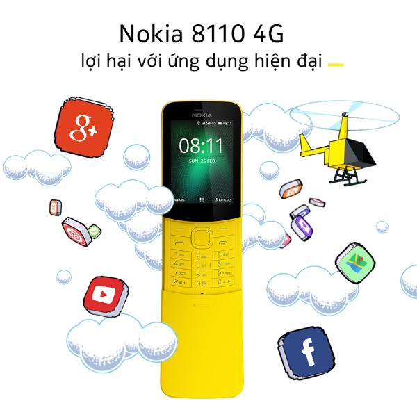 Sử dụng Nokia 8110, bạn có thể lướt web, check mail... mọi lúc mọi nơi.