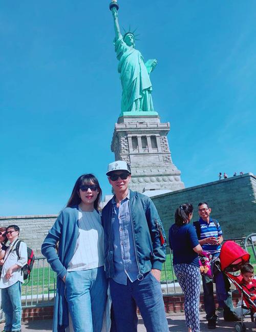 Vợ chồng Lý Hải - Minh Hà trốn con rủ nhau đi Mỹ.