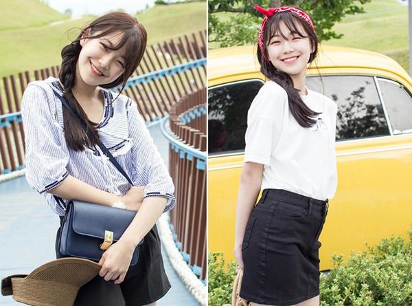 Vốn là thực tập sinh xếp thứ nhất trong chương trình sống còn Idol School, Baek Ji Heon không chỉ được debut trong nhóm tân binh Fromis_9 mà còn gây dựng được tên tuổi cũng như phong cách ăn mặc của cô nàng. Sở hữu gương mặt búng ra sữa và nụ cười rạng rỡ hơn hoa, cô gái 15 tuổi chọn kiểu ăn mặc trẻ trung, đáng yêu rất hợp tuổi.