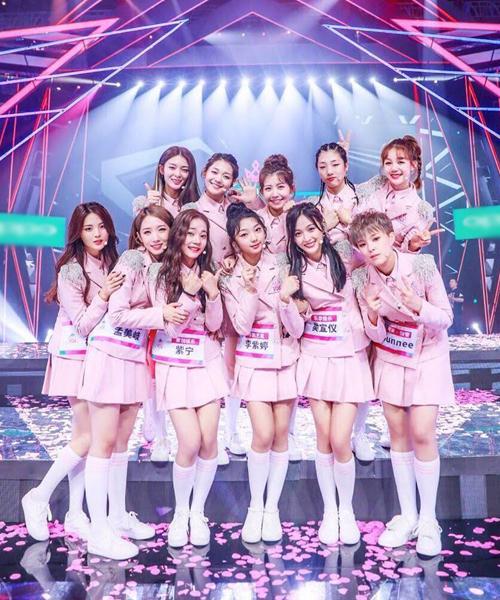 11 cô gái chiến thắng cuối cùng trong show Produce 101 Trung Quốc.