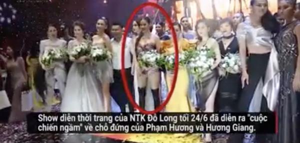Hình ảnh cắt từ clip cho rằng Phạm Hương chơi xấu Hương Giang gây xôn xao,