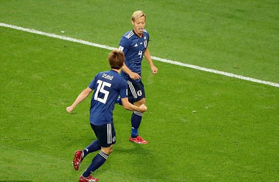 Các cầu thủ Nhật Bản thi đấu càng ngày càng hay tại World Cup 2018.
