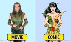 Tạo hình nhân vật Marvel ngoài đời và trên truyện khác nhau như thế nào?