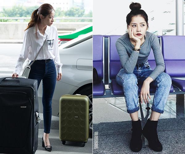 Người đẹp Hà thành thường chọn đồ không quá phức tạp để tránh dìm chiều cao. Thay vào đó, giày cao gót là món đồ không thể thiếu.