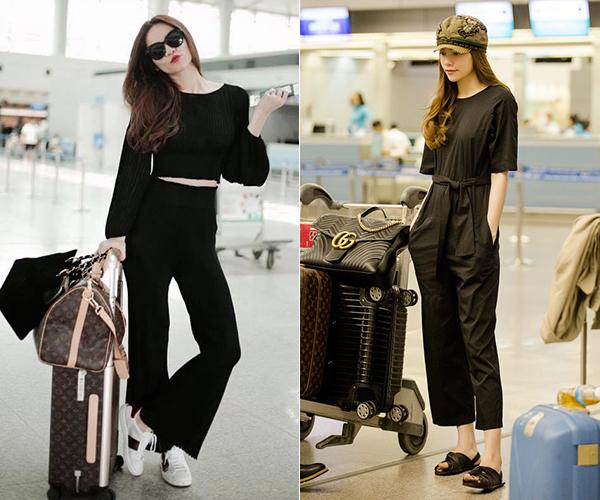 Những bộ cánh với thiết kế rộng rãi thoải mái được Hà Hồ kết hợp cùng sneakers, dép lê nhưng vẫn không mất đi nét sang trọng. Phụ kiện được nữ ca sĩ mix cùng hầu hết đến từ những thương hiệu nổi tiếng như Louis Vuitton, Gucci...