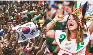 CĐV Mexico ăn mừng, đồng loạt gửi tình yêu đến Hàn Quốc