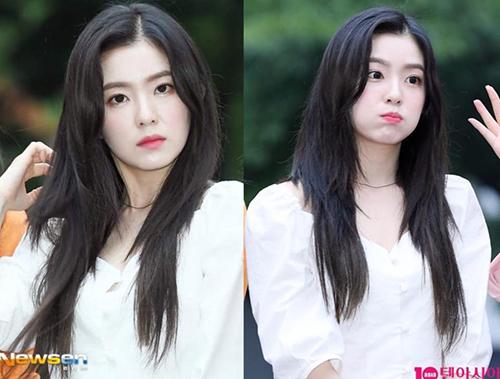 Red Velvet sẽ biểu diễn ca khúc Gee của SNSD trong show kỷ niệm 20 năm Music Bank. Irene vẫn giữ vững phong độ, cô nàng phồng má cute trước ống kính phóng viên.