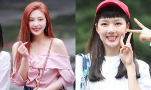 Dàn mỹ nhân Kpop khoe màu tóc mới khi đến Music Bank
