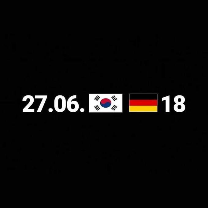 <p> Đương kim vô địch Đức vừa phải rời khỏi cuộc chơi World Cup 2018 khi bị Hàn Quốc đánh bại với tỷ số 2-0. Đây là lần đầu tiên Đức bị loại ở vòng bảng của World Cup kể từ năm 1938, và cộng đồng mạng không ngừng chế ảnh hài hước sau sự kiện này.</p>