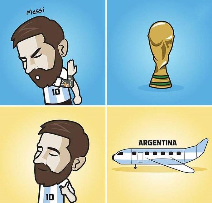 <p> Tạm biệt Gà trống Pháp nhé/Tạm biệt Uruguay xinh/Nay Si về nước rồi/Nhớ lắm, quên sao được/ Mùa World Cup năm nay.</p>