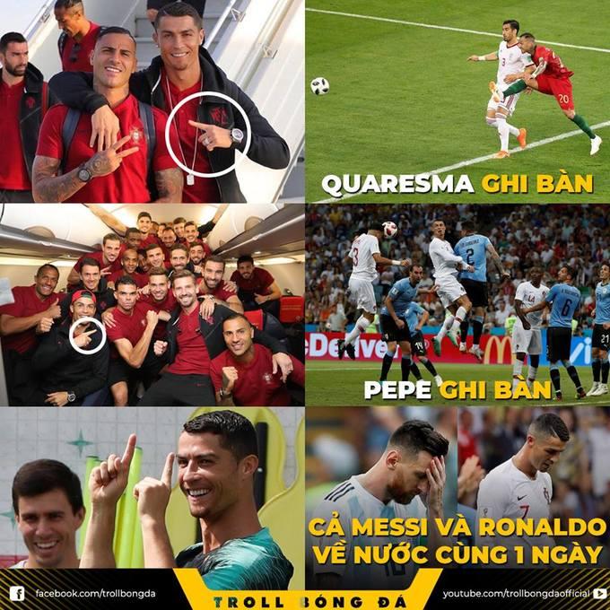<p> Nhà tiên tri Ronaldo trổ tài dự đoán. Và kết quả là...</p>