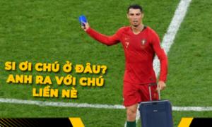 Đồng loạt 'rớt' khỏi World Cup, Messi và Ronaldo trở thành trung tâm ảnh chế