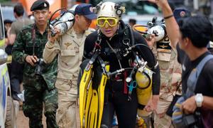 Hai thợ lặn tìm thấy đội bóng Thái Lan mất tích đầu tiên là ai?