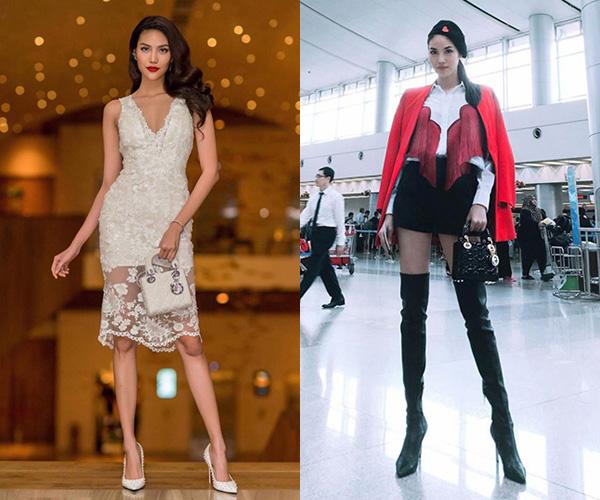 So sánh những hình ảnh thực tế tại các sự kiện và ảnh Lan Khuê chia sẻ trên Facebook, có thể thấy sự khác biệt rõ nét về tỷ lệ đôi chân.