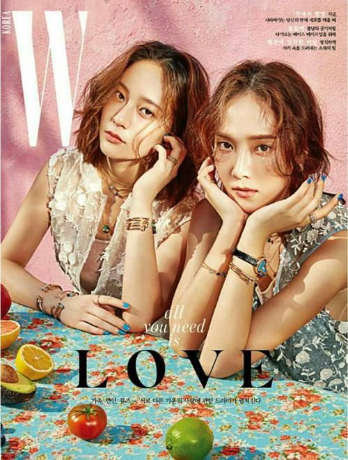 Hai chị em Jessica - Krystal có chỗ đứng trong làng thời trang Hàn Quốc. Họ được hâm mộ nhờ sở hữu gu thời trang đơn giản nhưng không kém phần sành điệu. Cặp chị em vừa cùng xuất hiện trên trang bìa của W Korea.