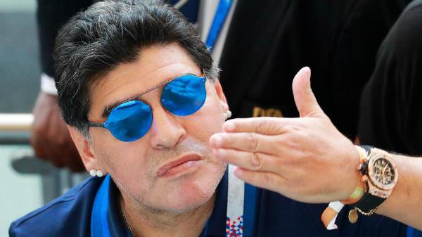 Huyền thoại bóng đá Argentina, Diego Maradona.