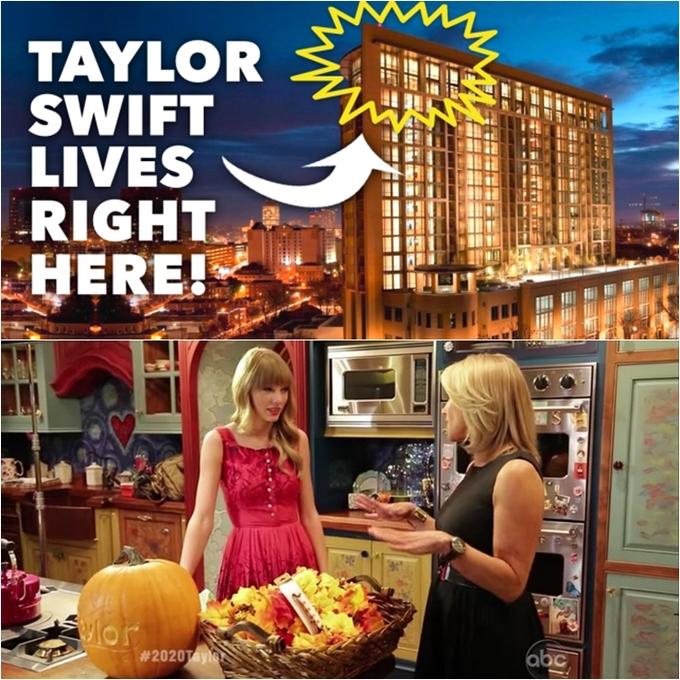 """<p> Năm 2009, Taylor Swift mua một căn penthouse tại khu phức hợp The Adelicia ở Midtown Nashville thuộc bang Tennessee, Mỹ. Căn hộ gồm 3 phòng ngủ, 5 phòng tắm, nằm ở 2 tầng cao nhất của tòa nhà 18 tầng. Trong cuộc phỏng vấn với Vulture, cô tự nhận đây là một căn hộ """"kỳ lạ"""" mang hơi hướng cổ tích do cô tự tay thiết kế và sắp đặt nội thất. Ước tính giá trị của căn penthouse này là 3 triệu USD.</p>"""