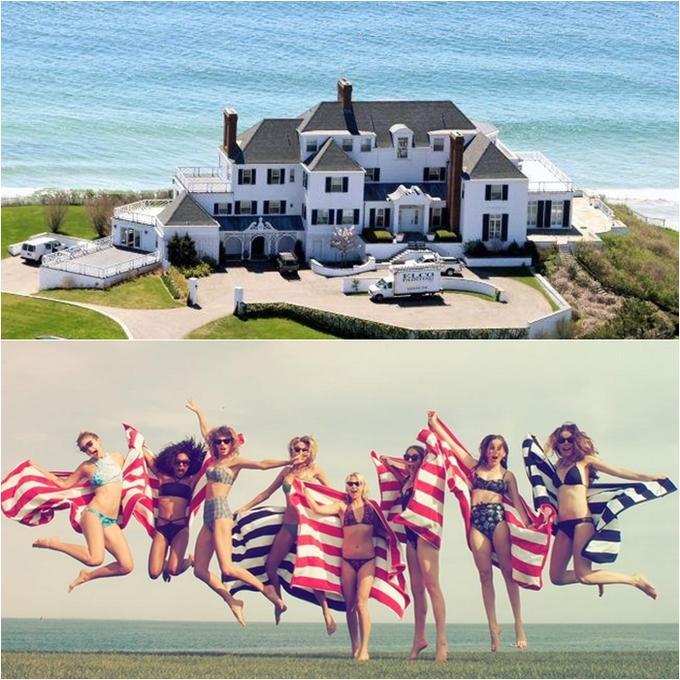 <p> Trước đó năm 2013, Taylor Swift cũng bỏ ra hơn 6,5 triệu USD để mua căn biệt thự sát bãi biển ở tiểu bang Rhode Island. Ngôi biệt thự có diện tích hơn 1000m2, gồm 8 phòng ngủ và ít nhất 11 phòng tắm. Đây cũng là nơi Taylor thường tụ tập với nhóm bạn gái nổi tiếng của mình trong những kỳ nghỉ lễ.</p>