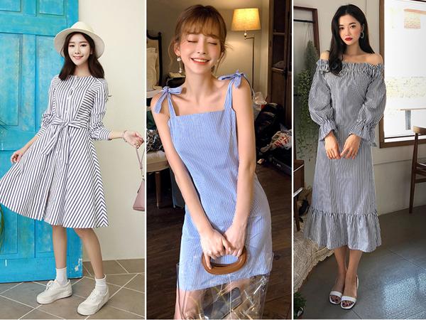Bên cạnh đó, những mẫu váy sử dụng màu vải này cũng cực hút người mua, lí do là bởi không chỉ đem lại vẻ bề ngoài dễ thương, họa tiết kẻ cũng khiến bộ trang phục sang chảnh hơn và không bao giờ bị nhàm chán.