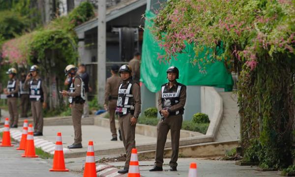 Cảnh sát vây kín khu vực bệnh viện tỉnh Chiang Rai, Thái Lan.