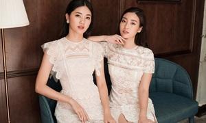 Mỹ Linh - Thanh Tú diện váy ren khoe vẻ xinh yêu