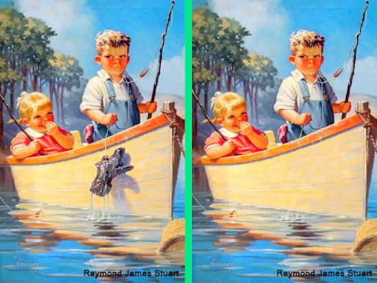 30 giây nhanh mắt tìm điểm khác biệt trong loạt tranh dễ thương