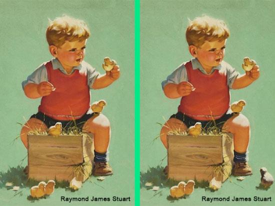 30 giây nhanh mắt tìm điểm khác biệt trong loạt tranh dễ thương - 1