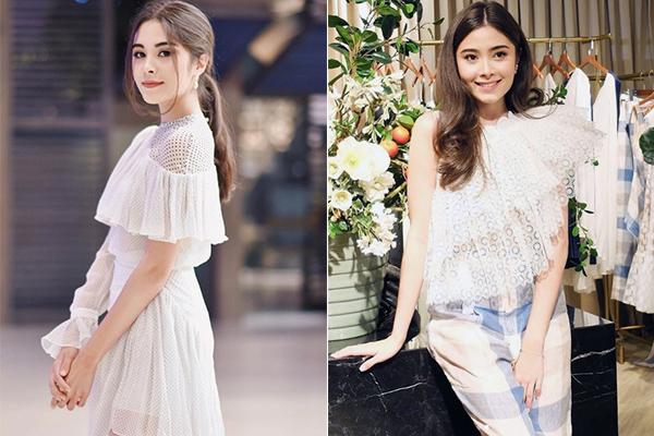 Phong cách của cả hai đều là sang chảnh, nữ tính đậm chất tiểu thư với các kiểu váy áo siêu bánh bèo, chủ yếu đến từ các thương hiệu thời trang thiết kế trong nước và quốc tế.