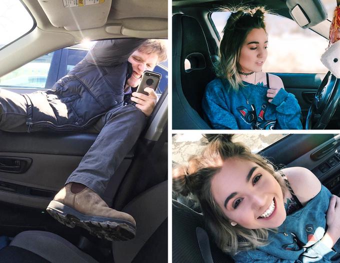 <p> Xem ra chụp trong ôtô cần nhiều kỹ năng nhỉ.</p>