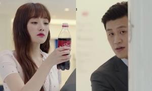 Cách tỏ tình bằng nước ngọt gây lụi tim của cặp đôi phụ trong 'Thư ký Kim'