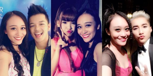 Kim Anh biểu diễn với rất nhiều ca sĩ, trong đó phải kế đến những cái tên đình đám như Sơn Tùng M-TP, Isaac, Tóc Tiên, Khởi My, Chi Pu.