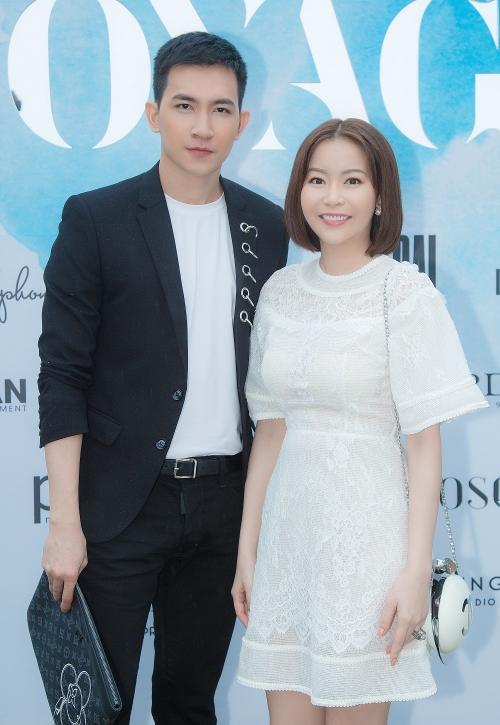 Hoa hậu Hải Dương và diễn viên Võ Cảnh.