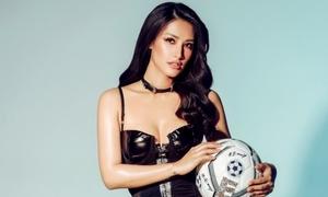 Hot girl 'Tây Thi ngủ gật' sexy cổ vũ World Cup trước giờ chung kết