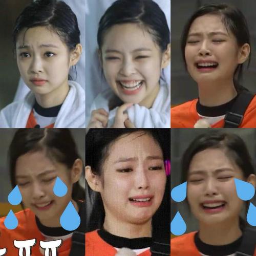 Jennie có loạt biểu cảm đáng yêu trên show thực tế.