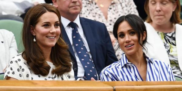 Có mặt trên khán đài theo dõi giải Wimbledon ngày 13/7 vừa qua, Kate và Meghan thu hút sự chú ý của báo giới bởi đây là sự kiện đầu tiên hai chị em xuất hiện cùng nhau mà không có chồng hộ tống.