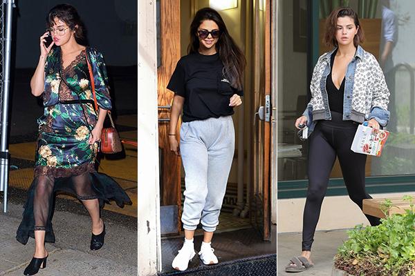 Thời gian gần đây, Selena Gomez liên tục xuống phố với những trang phục gây ngán ngẩm. Cô nàng nếu không vậntầng lớp già đanh như các bà thím thì cũng chọn đồxuề xòa, có gì mặc nấy, che giấu toàn bộ đường cong.