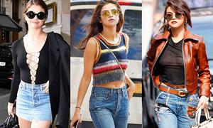 Trước khi thành 'bà thím' xuề xòa, Selena từng là 'nữ hoàng thời trang đường phố'
