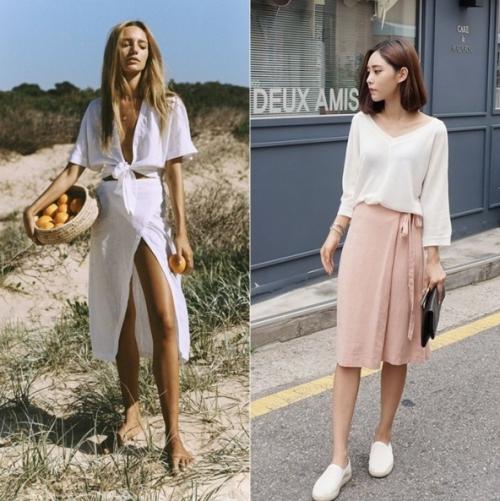 Cứ mỗi độ hè về, các nàng thường rất ngại diện quần jean và short. Đây cũng là thời điểm váy lên ngôi. Trong số đó, wrap skirt đang là item hot hit phủ sóng khắp nơi từ Âu sang Á.