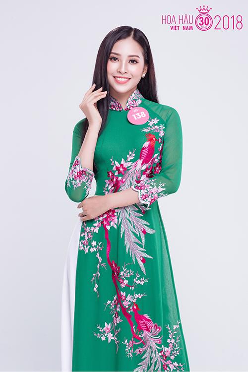 Trần Tiểu Vy được đánh giá là có gương mặt khá Tây, khác biệt so với dàn thí sinh năm nay.