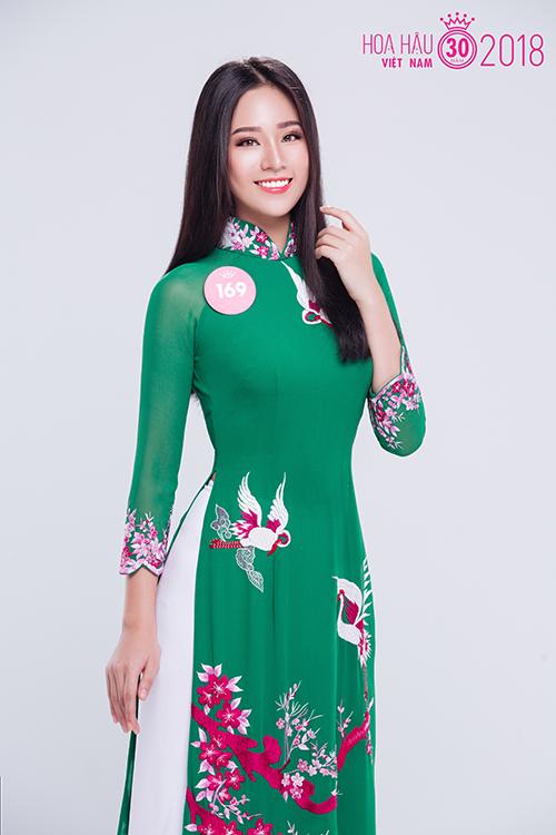 Nguyễn Hoàng Bảo Châu là thí sinh tiềm năng vì có gương mặt sáng, nụ cười rạng rỡ.