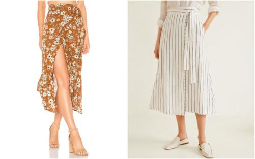 Wrap skirt hay còn gọi là váy quấn, là kiểu váy được lấy cảm hứng từ chân váy sari truyền thống của phụ nữ Ấn Độ. Loại váy này có thiết kế giống như miếng vải quấn quanh người một cách duyên dáng nhưng không kém phần thời thượng, cá tính.