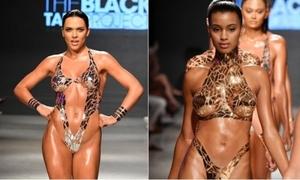 BST bikini bằng băng keo gây sốc
