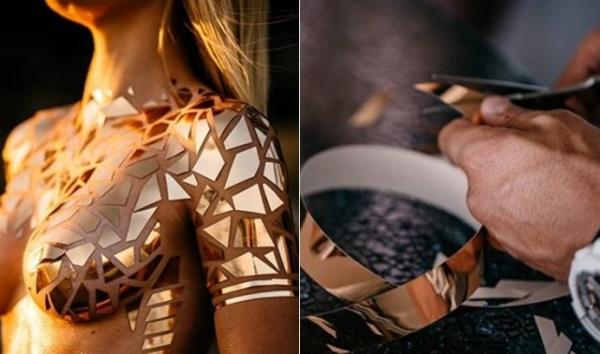 NTK Joel Alvarez, người có niềm đam mê đặc biệt với băng keo cho biết, thời gian để hoàn thành một bộ bikini với chất liệu là từ 5-17 giờ đồng hồ tùy vào sự phức tạp của chi tiết. Tất cả đều được làm thủ công bằng tay với sự tỉ mỉ nhất có thể.