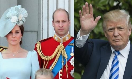 Nguyên nhân vợ chồng William - Kate từ chối gặp Donald Trump