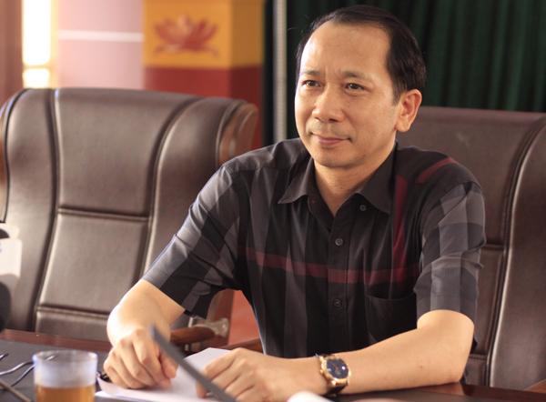Ông Trần Đức Quý, Phó chủ tịch UBND tỉnh, Chủ tịch Hội đồng thi Hà Giang, chủ trì họp báo. Ảnh:Dương Tâm