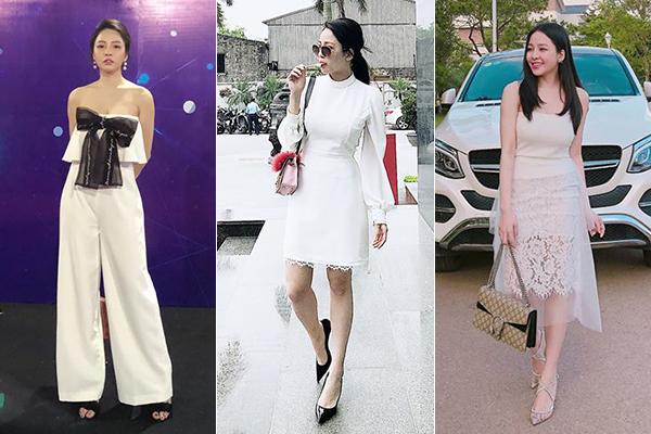 Những trang phục này thường được cô nàng phối cùng phụ kiện hàng hiệu, đến từ nhiều thương hiệu đắt giá như Gucci.