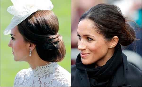 Trong khi Meghan thích phá cách với kiểu tóc lộn xộn tự nhiên, Kate Middleton lại luôn trung thành với những kiểu tóc sang trọng truyền thống. Theo tạp chí Herworld, Kate làm tóc 3 lần mỗi tuần để mái tóc luôn nên mượt mà và gọn gàng.