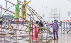 BTC Hoa hậu Việt Nam có phương án dự phòng để đối phó mưa bão