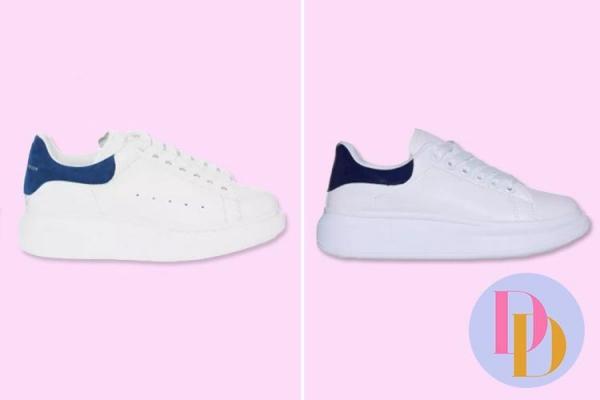 Thay vì sử dụng da lộn, phiên bản giày của EGO dùng da giả với thiết kế giống bản gốc 90%. Nếu chỉ nhìn qua rất khó phân biệt được đâu là giày xịn đâu là phiên bản rẻ tiền.